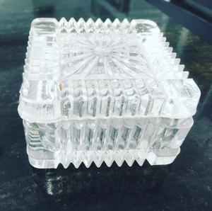 Cofre Cristal de Bohemia sin uso