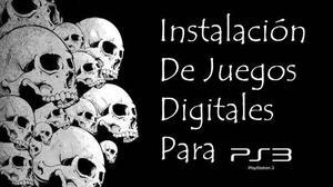 Instalación De Juegos Digitales Para Ps3