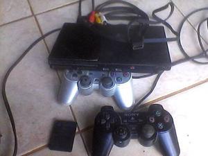 Playstation 2 Chipeado +1 Control Lente Dañado