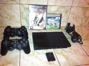 Playstation 2 Chipeado + 2 Controles + Memorycard + Juegos