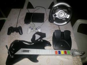 Playstation 2 En Combo Guitarra Volante Multijugador Y Mas