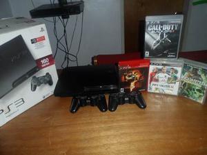 Playstation 3 De 160 Gb Con 4 Juegos Originales En Su Caja