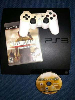 Playstation 3 Slim De 160 Gb Usado + 1 Control + 1 Juego