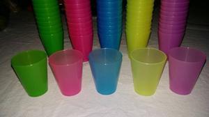 Vasitos Shot 2onz Plasticos De Varios Colores