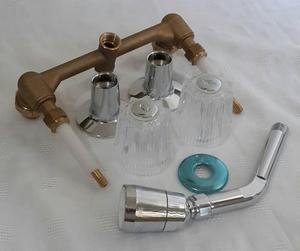 Llaves para lavamanos y ducha posot class for Llave para ducha doble