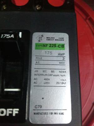 Breaker 3 Polos Hwa Wang 175amp