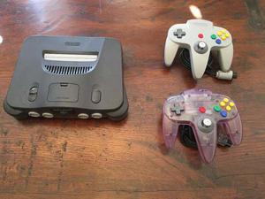 Nintendo 64, Dos Controles, Cinco Juegos Y Estuche