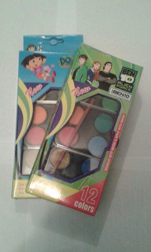 Originales Acuarelas 12 Colores Dora La Exploradora/ Ben 10