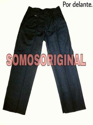 Pantalon Escolar Azul De Gabardina Niña
