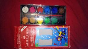 Set De Acuarella 12 Colores Faber Castell