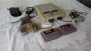 Super Nintendo Con 2 Controles Y 2 Juegos