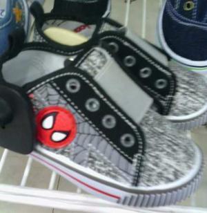 Zapatos Botas De Spiderman Hombre Araña De Nino Niña