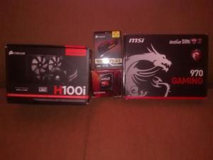 Amd Fx  + H100i + Ram 2x8 Gb + Mobo Msi 970 Gaming