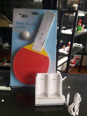 Combo Wii Raqueta De Pinga Pong Y Base De Carga Para Control