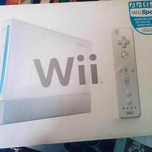 Nintendo Wii + Control/ 2 Nunchuk/ Cables/ Caja/ Juegos/chip