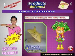 Paraguas Sombrillas Para Niñas Y Niños + Pito