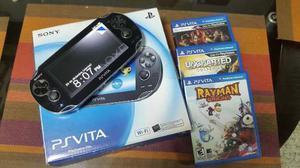 Playstation Ps Vita 3.63 + Memoria De 4g + 3 Juegos Fisicos
