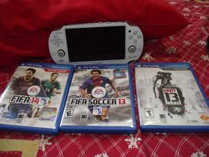 Ps Vita + 4 Juegos + Tarjeta De Memoria