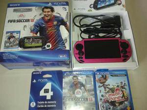 Psvita Sony Original + Memoria De 4gb Y 2 Juegos Originales