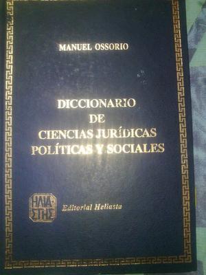 DICCIONARIO DE CIENCIAS JURÍDICAS POLÍTICAS Y SOCIALES.