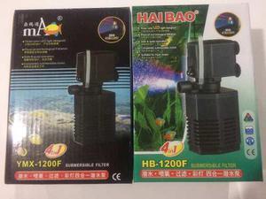 Filtro Interno Para Acuarios Y Bomba De Agua Hb-1200f
