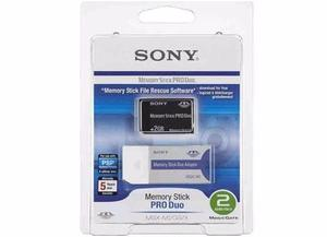 Memory Stick Sony Pro Duo De 2gb Con Adaptador