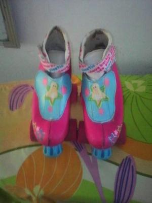 Patines Cuatro Ruedas Original Barbie