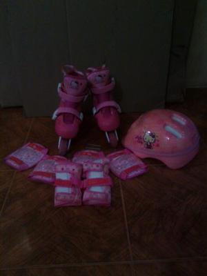 Patines Lineales De Hello Kitty Para Niña Talla