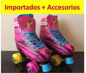 Patines Soy Luna Importados + Kit De Protección
