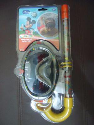 Set Mascara Y Snorkel De Mickey Mouse Clubhouse Para Niños
