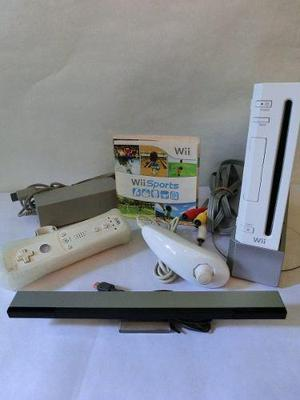 Nintendo Wii Blanco (sin Chipear) + Controles + Wii Sports