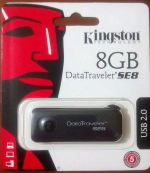 Pendrive Usb Kingston Datatraveler Se8, 8gb, Usb 2.0, Negro