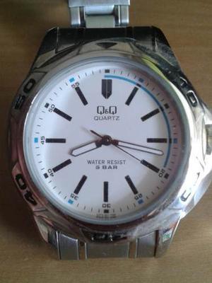 Reloj Q&q Original Nuevo En Acero Inoxidable