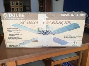 Vendo Ventilador De Techo Decorativo Tatung 52 Pulg (132 Cm)