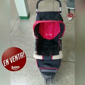 Coche Baby Hogar Color Rojo Con Negro Coche 3 Ruedas