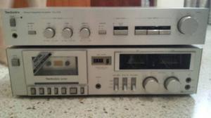 Equipo De Sonido Technics Tocadiscos Cornetas Vintage