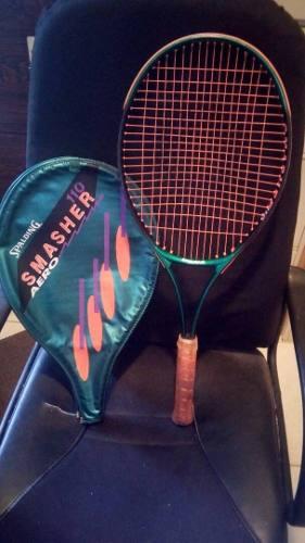 Raqueta De Tenis Spalding, Smasher 110. Con Su Estuche
