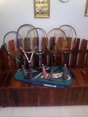 Raquetas De Tenis Usadas En Perfrcto Estado + Estuche Solo V