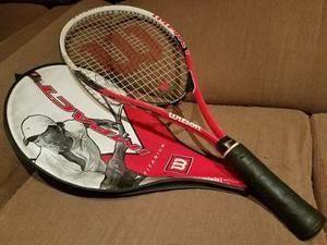 ¡click! Raqueta Wilson Aluminio De Tennis Deporte