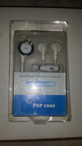 Audifonos Psp 2000 3000 Control Remoto Integrado Slim 3001