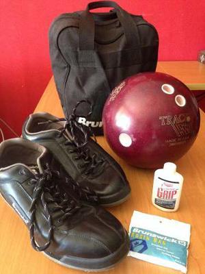 Kit De Bowling Bola Track Zapatos Y Bolso Brunswick