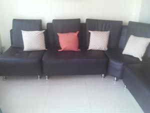 muebles modular semi cuero