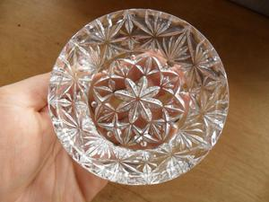 cenicero de cristal de Bohemia original