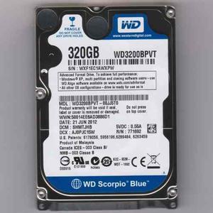 Disco Duro 320 Gb. Para Loptop Marca Toshiba