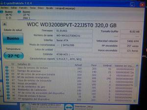 Disco Duro Wester Digital 320 Gb Sata Laptop rpm
