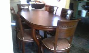 Comedor en madera fina 5 sillas caracas posot class for Comedor 6 sillas usado