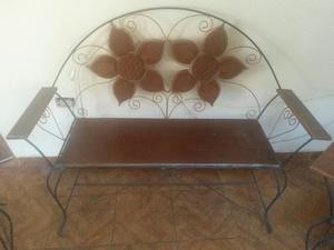 Juego de muebles hierro y madera posot class - Muebles de madera y hierro ...