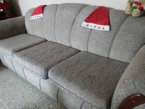 Juego De Recibo Sofa 3 Puestos Y Dos Individuales Con Mesa