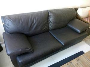 Mueble Sofa Doble Extra Grande En Semi Cuero