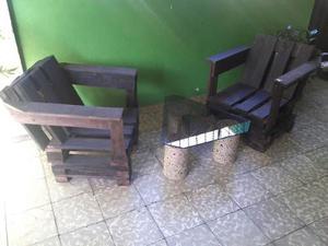 Muebles De Paletas Juego Completo